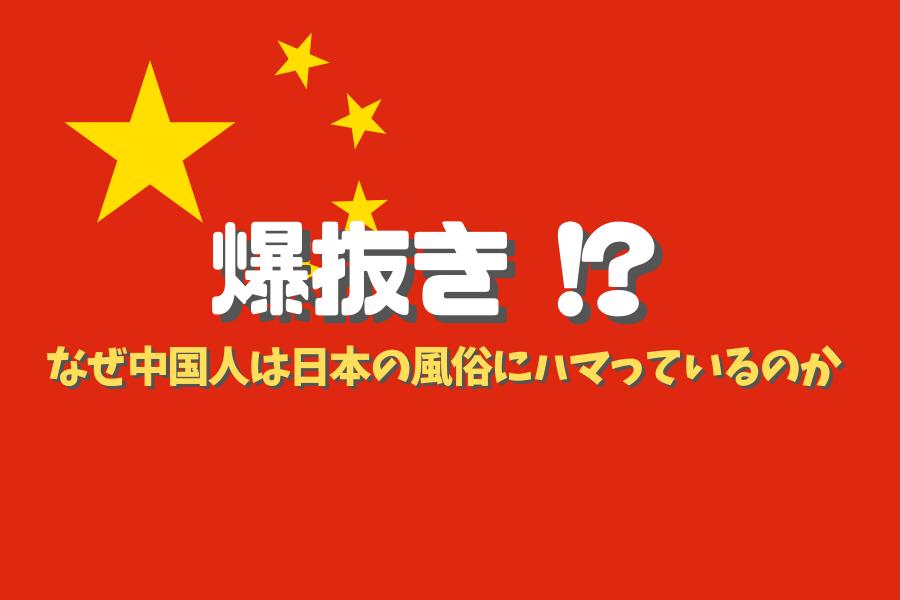 中国人観光客による爆抜きの解説